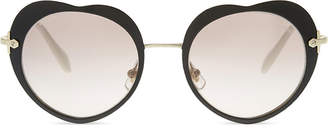 Miu Miu MU54RS The Collection round-frame sunglasses