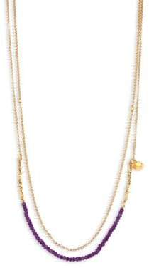 Astley Clarke Biography Amethyst Beaded Double-Strand Necklace