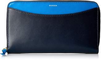 Skagen Compact Leather Zip Wallet - Wallet