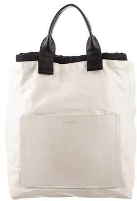 Lanvin Leather Draw-String Tote