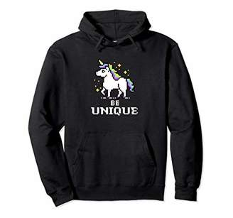 Cute and Unique 8-Bit Adorable Unicorn Pullover Hoodie