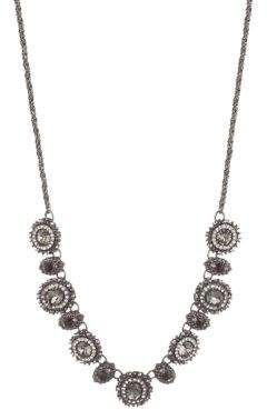Marchesa Jet & Crystal Necklace