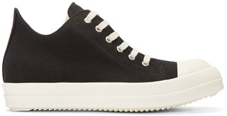 Rick Owens Drkshdw Black Canvas Sneakers $610 thestylecure.com