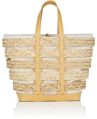 Paco Rabanne Women's Straw & Leather Cage Tote Bag