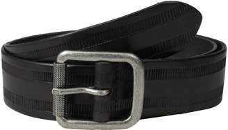 John Varvatos Men's Leather Belt with Harness Buckle
