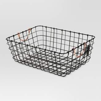 Threshold Small Wire Decorative Basket With Copper Handle - ThresholdTM