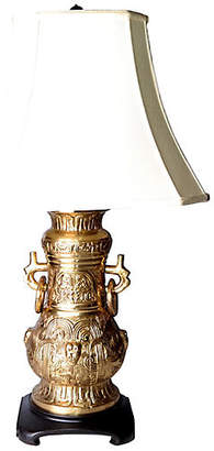 One Kings Lane Vintage Bronze & Wood Table Lamp