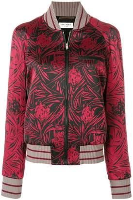 Saint Laurent floral zipped jacket