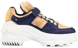 Maison Margiela navy and pink sneakers