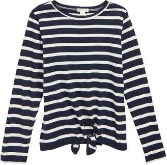 J.Crew crewcuts by Tie Front Long Sleeve T-Shirt