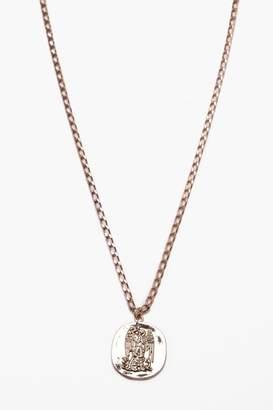 boohoo Coin Pendant Necklace