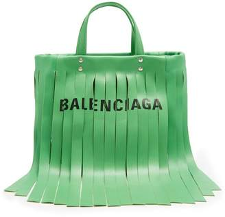 Balenciaga Laundry Fringes Xs Bag - Womens - Green