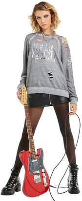 Wildfox Couture Hell Yeah! Distressed Sommers Sweater | Heather