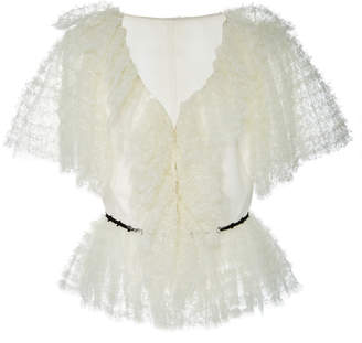 SOONIL Gypso Ruffle French Lace Top