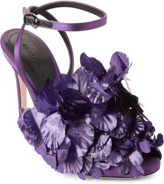 Marco De Vincenzo Violet Amethyst Petal Sandals