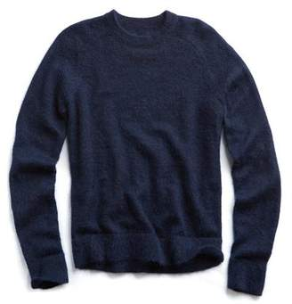 Todd Snyder Italian Brushed Wool Crewneck Sweater in Navy