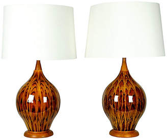 One Kings Lane Vintage Vintage Italian Glazed Porcelain Lamps