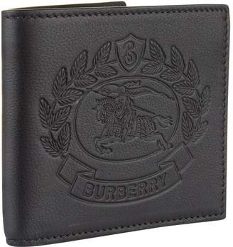 Burberry Emobssed Leather Bifold Wallet