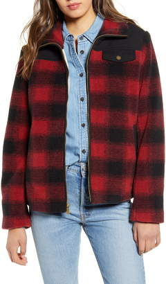 Pendleton Camas Water Resistant Plaid Fleece Coat