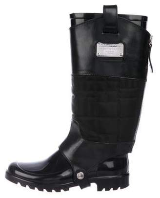 Dolce & Gabbana Rubber Mid-Calf Boots Black Rubber Mid-Calf Boots