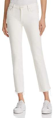 Mother The Rascal Ankle Snippet Jeans in Whipping the Cream