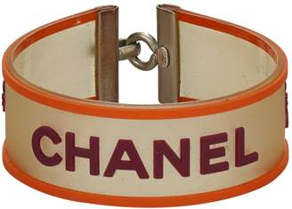Chanel Vintage Orange Plastic Bracelets