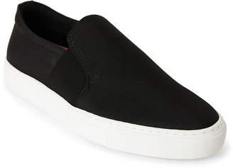 N. Supply Lab Black Ben Canvas Slip-On Sneakers