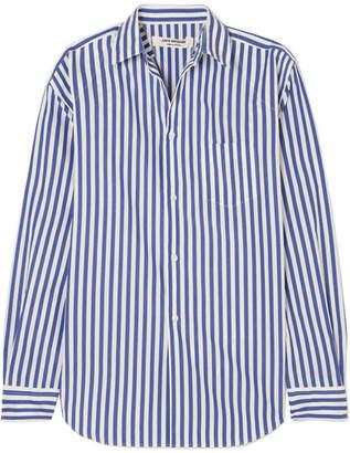 Junya Watanabe Striped Poplin Shirt - Storm blue