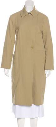 Cédric Charlier Long Trench Coat Tan Long Trench Coat
