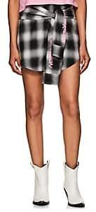 ADAPTATION Women's Plaid Cotton Miniskirt