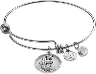 """Love This Life love this life Crystal """"Mother Daughter"""" Butterfly Charm Bangle Bracelet"""