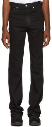 Helmut Lang SSENSE Exclusive Black Femme Hi Bootcut Jeans