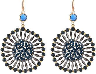 Nakamol Crystal Starburst Drop Earrings