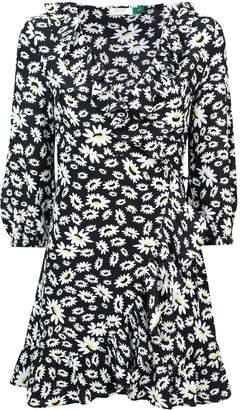 Fendi Rixo London Mini Floral Wrap Dress