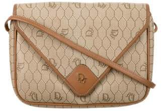 Christian Dior Honeycomb Coated Canvas Crossbody Bag Khaki Honeycomb Coated Canvas Crossbody Bag