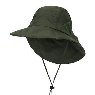 085505e47a71b BeFur Unisex Fishing Hat with Foldable Neck Flap Cover Wide Brim Sun UV  Protection Hiking Safari