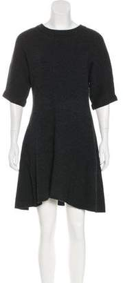 Cacharel Wool Rib Knit Dress