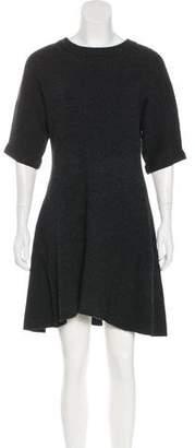 Cacharel Wool Rib Knit Dress