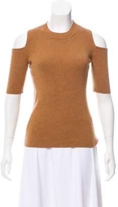 Intermix Wool Shoulder Cutout Sweater