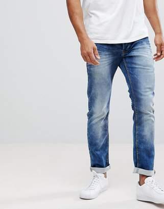 Solid Slim Fit Jeans In Hybrid Denim
