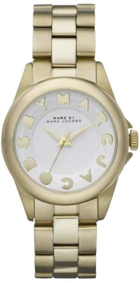 Marc By Marc Jacobs Marc by Marc Jacobs MBM3111 Bubbles Gold Tone Stainless Steel White Dial 36mm Womens Watch