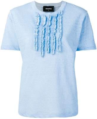 DSQUARED2 textured bib T-shirt