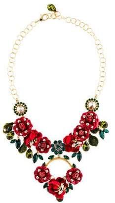 Dolce & Gabbana Floral Embellished Necklace