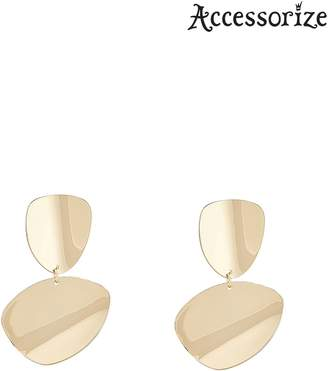 Next Womens Accessorize Gold Sleek Disc Statement Earrings
