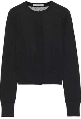 Jason Wu Point D'esprit-Paneled Wool-Blend Cardigan