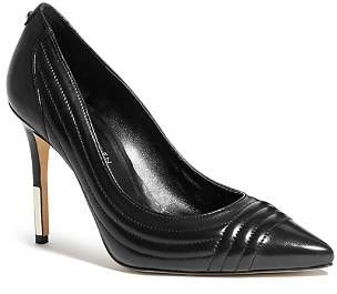 Karen Millen Women's Metal Tipped Leather High-Heel Court Pumps