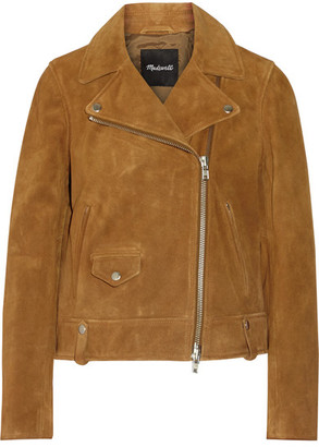 Madewell - Motorcycle Suede Biker Jacket - Mustard $450 thestylecure.com