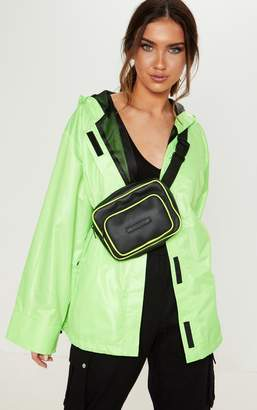 PrettyLittleThing Neon Lime Hooded Neon Jacket