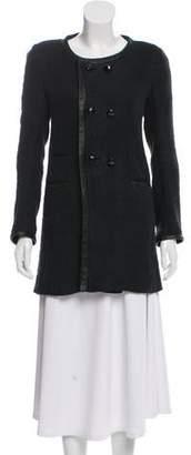 Isabel Marant Leather-Trimmed Coat