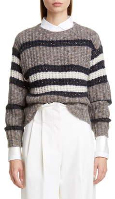 Brunello Cucinelli Sequin Stripe Sweater